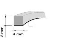 AA BAUSET PRÍLEPNÝ 4mm x 3mm (30m)