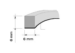 AA BAUSET PRÍLEPNÝ 6mm x 6mm (15m)
